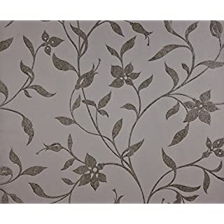 Dutch Wallcoverings 7229-2 Wallpaper Flower Grey/Silver