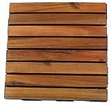 1 STK. Snap&Go Akazien-Holz Bodenplatten 30x30cm Terrassenfliesen Balkonfliesen
