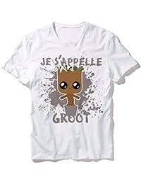 T-Shirt Mixte Je S'appelle Groot (Gardien de la galaxie) Chibi et kawaii by Fluffy Chamalow - Chamalow shop