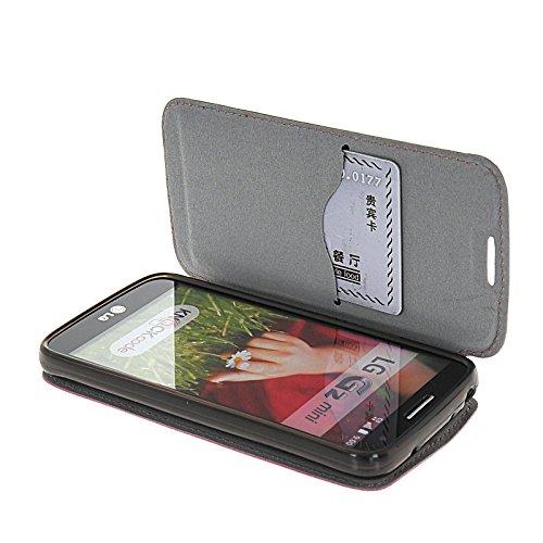 MOONCASE Coque en Cuir Portefeuille Housse de Protection Étui à rabat Case pour Apple iPhone 6 (4.7 inch) Brun HotRose 02