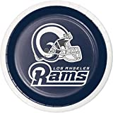 Creative Converting 335918case Dessertteller Los Angeles Rams, 17,8 cm, Blau