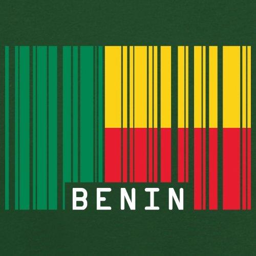 Benin / Republik Benin Barcode Flagge - Herren T-Shirt - 13 Farben Flaschengrün