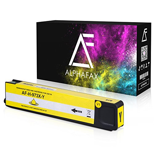 Alphafax Tintenpatrone kompatibel zu HP 973X für PageWide Pro 452dn 452dw 452dwt 477dn 477dw 477dwt 552dw 577dw 577z - Yellow -
