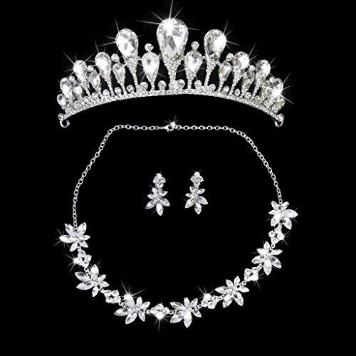 Rhinestone Phenovo Dama De Honor Nupcial Tiara De La Boda De La Corona