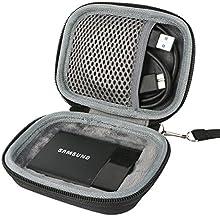 para Samsung Memory 1 T1 Disco duro de estado sólido (SSD externa portátil USB 3.0) 250GB 500GB 1TB Hard Shockproof Almacenamiento Viajar que Lleva Caja Bolsa Fundas por co2CREA