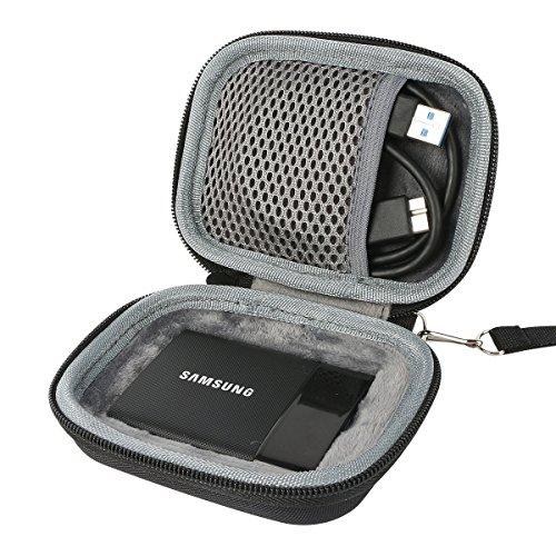 für Samsung Memory T1 USB 3.0 Portable Tragbare Externe SSD-Festplatte Solid State Drive 250GB 500GB 1TB Hard Shockproof Reise Lagerung Tragen Taschen Hülle von co2CREA (2t Portable Hard Drive)