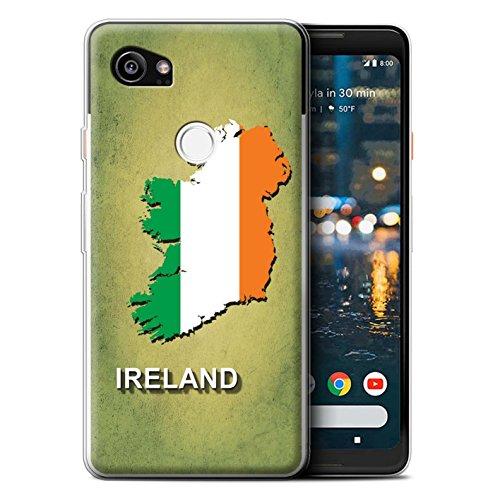Hülle Für Google Pixel 2 XL Flagge Land Irland/Irisch Design Transparent Dünn Weich Silikon Gel/TPU Schutz Handyhülle Case -