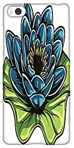 Snoogg Floral Vector Element Designer Protective Back Case Cover For Xiaomi M...