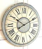 Wanduhr 'Antik' in im Landhaus Shabby Chic french Stil, Durchmesser 60cm
