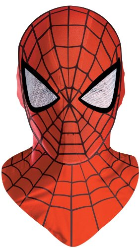 Spiderman Deluxe Adult Red Costume Mask (Spider Man Masken)
