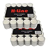 1 X 100 Tea lights up to 8 Hours burning Time at good price by H-LINE