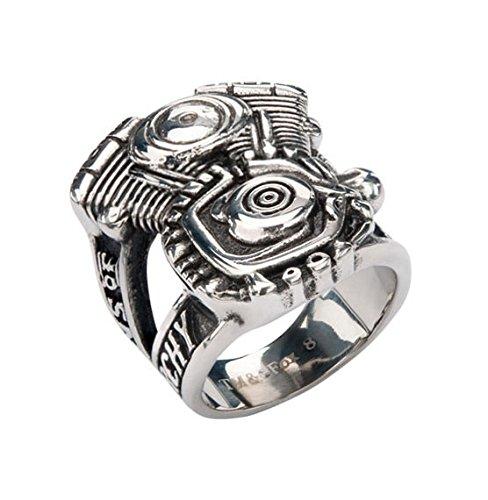 Inox Jewelry Unisex-Ring Sons of Anarchy Men of Mayhem Edelstahl Gr. 73 (23.2) - SOAFRVMM_14 (Ring Anarchie)