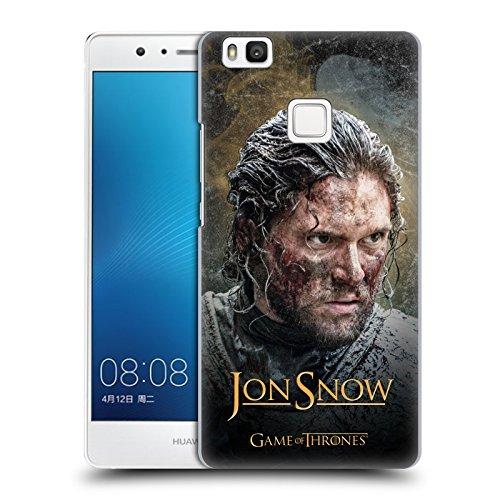 Ufficiale HBO Game Of Thrones Jon Snow Ritratto Battle Of The Bastards Cover Retro Rigida per Huawei P9 Lite / G9 Lite