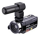 Kksann HD 1080p IR visione notturna a infrarossi fotocamera digitale, 301STR 7,6cm LCD registratore con microfono esterno e touch screen DV Cam, Humanized design rotante a 270° può soddisfare pienamente i requisiti Shoot