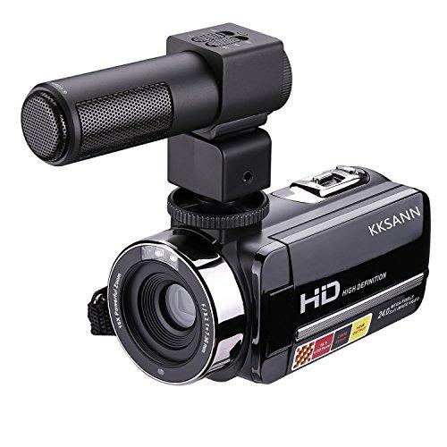 """kksann HD 1080P IR visión nocturna por infrarrojos cámara Digital, LCD de 3""""301str grabadora con micrófono externo y pantalla táctil DV Cam, humanizado 270° giratorio diseño puede cumple con los requisitos de disparar"""