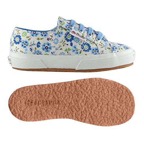 Superga2750 Cotflowersj - Scarpe da Ginnastica Basse Unisex per bambini FLOWERS AZUL-BLU