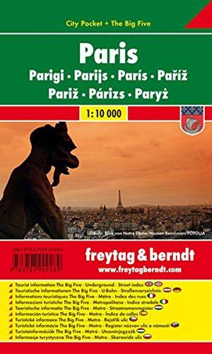 París, plano callejero de bolsillo plastificado. City Pocket. Escala 1:10.000. Freytag & Berndt.