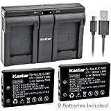 Kastar Camera Batteries (Pack Of 2) With USB Dual Charger For Kodak KLIC-5001 & Easyshare P712 P850 P880 Z730 Z760 Z7590 DX6490 DX7440 DX7590 DX7630 Sanyo DB-L50 DMX-WH1 HD1010 FH11 HD2000 VPC-WH1 HD2000 HD1010 HD1000