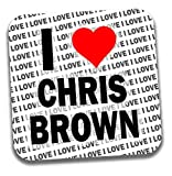 Dessous de verre I Love Chris Brown Drinks ? Cadeau ? Anniversaire ? Noël ? Garnissage chaussette