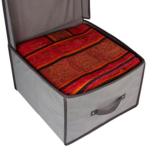 DEALCROX Foldable storage box holds clothing,blanket,quilt and more