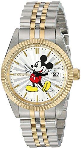 Invicta 22776 Disney Limited Edition - Mickey Mouse Reloj para Mujer acero inoxidable Cuarzo Esfera plata