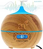 immagine prodotto ArtNaturals Oli Essenziali Diffusore Di-Aromi - 400ml - Bluetooth Ultrasuoni Diffusore di Essenze Autospegnimento Umidificatore LED a 7 Colori Timer Nebbia Fredda per Yoga, Spa, Ufficio, Casa, Stanza per bambini
