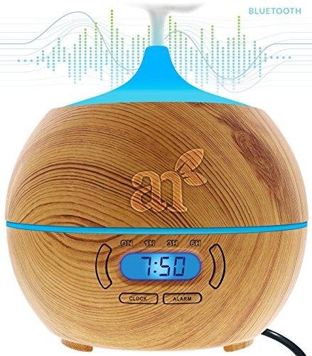 ArtNaturals Aroma-Diffuser für Ätherische Öle - Luftbefeuchter mit Bluetooth Lautsprecher und Alarm - Elektronisch kühlender Nebel zur Aromatherapie fürs Haus,...