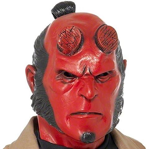 Máscara de Hellboy para Halloween accesorios careta disfraz diabólico
