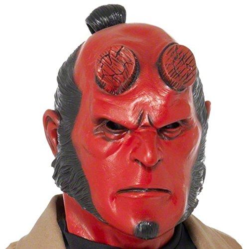 Hellboy Maske Original Latexmaske Hell Boy Dämonenmaske Latex Dämon Teufel Teufelsmaske