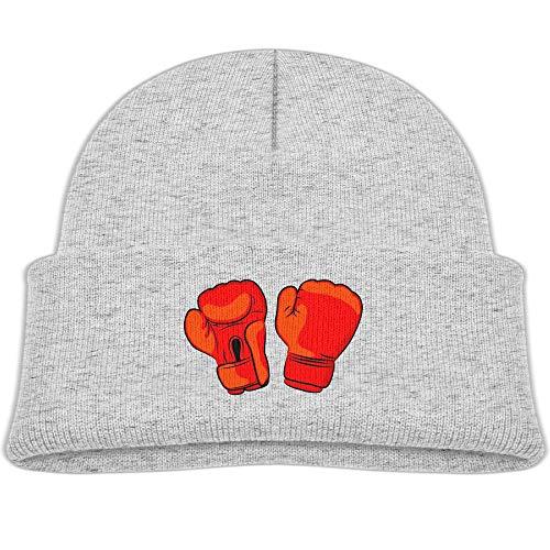 Child Red Boxing Gloves Beanie Cap Skull Hat Child Winter Warm Hat Unisex -