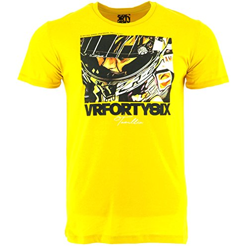 Valentino Rossi VR46 Moto GP Life Style Helm T-shirt Offiziell 2017 (Helm-t-shirt)