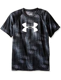 Boys Under Armour Big-Camiseta de deporte para hombre grafito, FR: XL (talla fabricante: YXL)