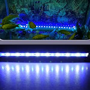 aquarium fische tank beleuchtung mit fernbedienung 37cm 18 led 4w 5050 smd blau mit weiss lampe. Black Bedroom Furniture Sets. Home Design Ideas