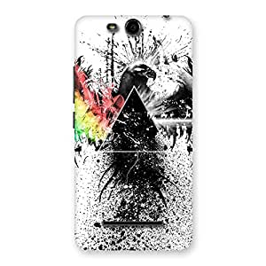 Cute Prism Eagle Multicolor Back Case Cover for Micromax Canvas Juice 3 Q392