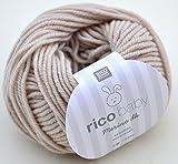 Rico Baby Merino dk 002-beige Babywolle Merinowolle extrafine superwash Wolle
