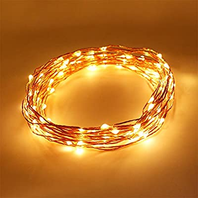 2 Packs FOXNOV Battery Operated 50 LED Fairy String Lights, 5 Modes, 5M/16.4Ft, Warm White, Last Over 80 hrs. - cheap UK light shop.