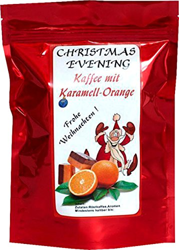 Aromakaffee - Aromatisierter Kaffee - Christmas Evening Karamell-Orange - Gemahlen 200g -...