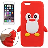 Coque silicone cartoon Pingouin rouge pour iphone 6 et 6S