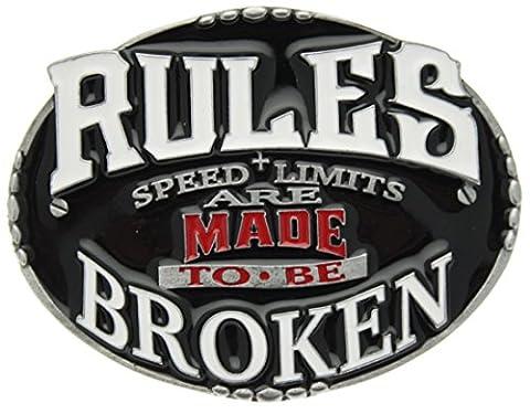 Boucle de ceinture Rules Are Made To Be Broken en un de mes présentation en coffrets.