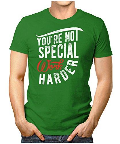PRILANO Herren Fun T-Shirt - YOU-NOT-SPECIAL - Small bis 5XL - NEU Grün