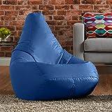 Hi-BagZ puf de al aire libre silla de respaldo alto–jardín Bean Bag Bazaar azul–100% resistente al agua