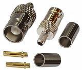 2 x Anschluss BNC-Buchse 50Ω Ohm für Kabel RG58