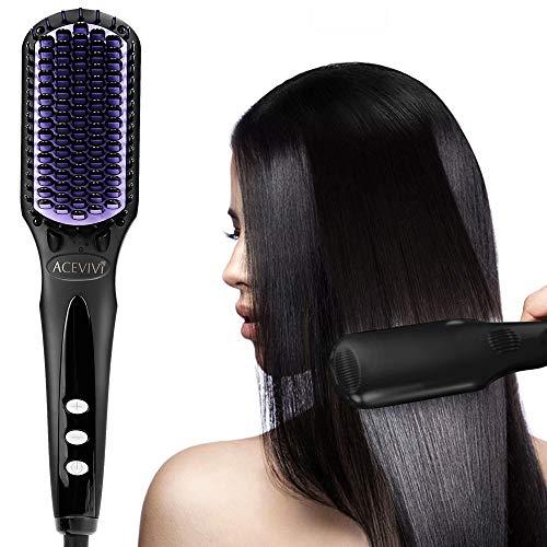 Glättbürste Haarglätter Bürste, Ionischer Comb ,Ionen-Technologie stylingbürste mit MCH Schneller Aufheizung 80°C-230°C und LCD Anzeige
