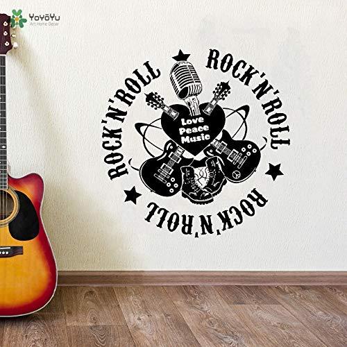 Freunde Sonnensystem Kostüm - Hot Removable Vinyl Wandaufkleber Musik Liebe Rock Roll Gitarre Wandtattoo Mode Qualität Home Art Dekoration 57x57 cm
