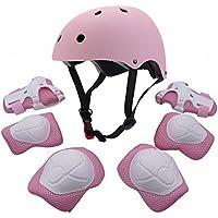 ENFANTS Youth Sports équipement de protection avec ensemble de casque Coude genou poignet de sécurité Pad SafeGuard pour roller Vélo BMX Vélo Skateboard Hoverboard activités de plein air