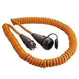 as - Schwabe 70413 Schutzkontakt-Spiralkabel, 5m H07BQ-F 3G1,5, orange, IP44 Gewerbe, Baustelle