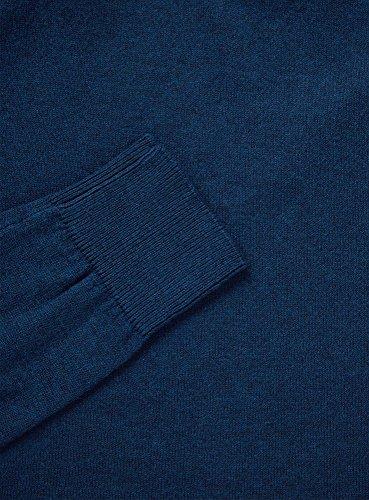 oodji Ultra Herren Basic Pullover mit V-Ausschnitt Türkis (7600M)