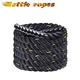 Display4top Battle Rope 9/12/15M Fune di Allenamento Φ 38MM Fitness Crossfit,Corda di Formazione per Potenziamento Muscolare Corpo (38mm * 12m)