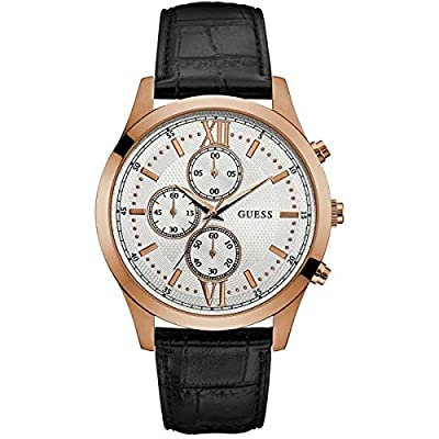 Guess Hudson Reloj De Hombre Cuarzo 44mm Correa De Cuero Caja De Acero W0876g2