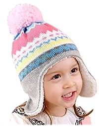 Gifts Treat Ragazze Ragazzi Cappellino Invernale Bambini Cappello Lavorato a  Maglia Motivi Geometrici 7e7d4e97f2ee